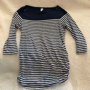 Old navy maternity striped button detail